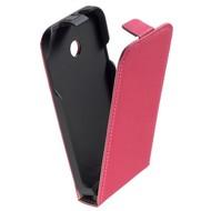 Huawei Ascend Y330 - Flipcase Cover Hoesje Leder Roze