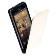 Huawei Ascend G6 - Flip Case Cover Hoesje Lederlook Wit
