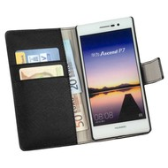Huawei Ascend P7 - Wallet Bookstyle Case Y Zwart