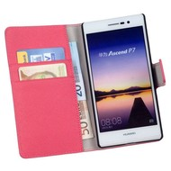 Huawei Ascend P7 - Wallet Bookstyle Case Y Roze