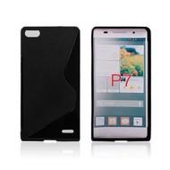 Huawei Ascend P7 - Tpu Siliconen Case Hoesje S-Style Zwart