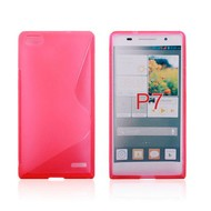 Huawei Ascend P7 - Tpu Siliconen Case Hoesje S-Style Roze