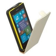 Nokia Lumia 520  -Leder  Flip case/cover hoesje - Wit