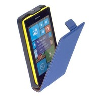 Nokia Lumia 520  -Leder  Flip case/cover hoesje - Blauw