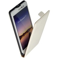 Huawei Ascend P7 - Flip Case Cover Hoesje Leder Wit