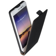 Huawei Ascend P7 - Flip Case Cover Hoesje Lederlook Zwart