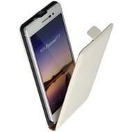 Huawei Ascend P7 - Flip Case Cover Hoesje Lederlook Wit