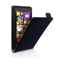 Nokia Lumia 1520  -Leder  Flip case/cover hoesje - Zwart