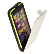 Nokia Lumia 635  -Lederlook  Flip case/cover hoesje - Wit