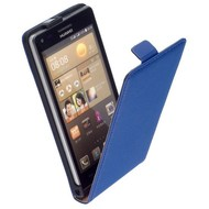 Huawei Ascend G6 - Flip Case Cover Hoesje Leder Blauw