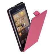 Huawei Ascend G6 - Flip Case Cover Hoesje Leder Roze