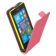 Nokia Lumia 525  -Leder  Flip case/cover hoesje - Roze