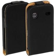 Samsung S5660 Galaxy Gio  -Leder  Flip case/cover hoesje - Zwart
