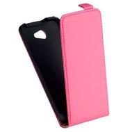 HTC Desire 516 - Flip Case Cover Hoesje Leder Roze
