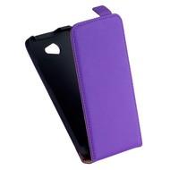 HTC Desire 516 - Flip Case Cover Hoesje Leder Paars