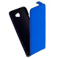 HTC Desire 516 - Flip Case Cover Hoesje Leder Blauw
