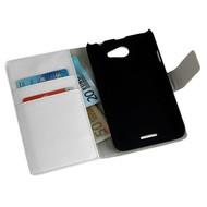 HTC Desire 516 - Wallet Bookstyle Case Y Lederlook Wit