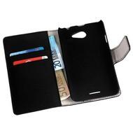 HTC Desire 516 - Wallet Bookstyle Case Y Lederlook Zwart