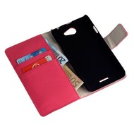 HTC Desire 516 - Wallet Bookstyle Case Y Lederlook Roze