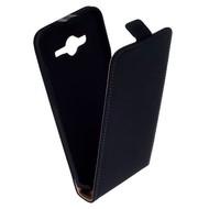 Samsung Galaxy Core 2 - Flip Case Cover Hoesje Leder Zwart