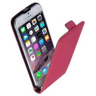 Apple Iphone 6 - Flip Case Cover Hoesje Leder Roze
