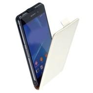 Sony Xperia Z3 - Flipcase Cover Hoesje Lederlook Wit