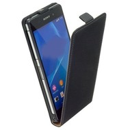 Sony Xperia E3 D2203 Lederlook Flip case klap hoesje cover - Zwart