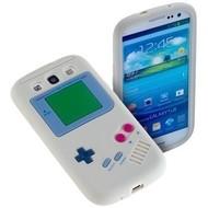 Samsung Galaxy S3 Neo - Siliconen Case Gameboy Hoesje Wit