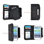 Samsung Galaxy S3 Neo - Wallet Bookstyle Case Lederlook Uitneembaar Frontje Zwart