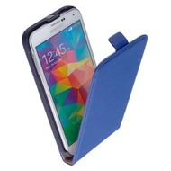 Samsung Galaxy S5 Neo - Flip Case Cover Hoesje Pearlycase Leder Blauw