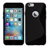 Apple Iphone 6S - Tpu Siliconen Case Hoesje S-Style Zwart