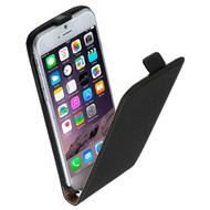 Apple Iphone 6S - Flip Case Cover Hoesje Lederlook Zwart
