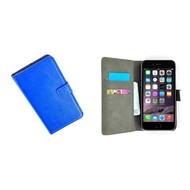 Apple Iphone 6S Plus - Wallet Bookstyle Case Lederlook Blauw