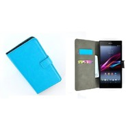 Sony Xperia Z5 Compact - Wallet Bookstyle Case Lederlook Turquoise
