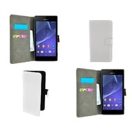 Sony Xperia Z5 Compact - Wallet Bookstyle Case Lederlook Wit