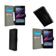 Sony Xperia Z5 Compact - Wallet Bookstyle Case Lederlook Zwart