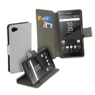 Sony Xperia Z5 Compact - Wallet Bookstyle Y Case Lederlook Wit