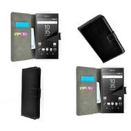 Sony Xperia Z5 - Wallet Bookstyle Case Lederlook Zwart