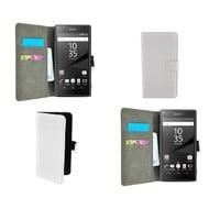 Sony Xperia Z5 - Wallet Bookstyle Case Lederlook Wit