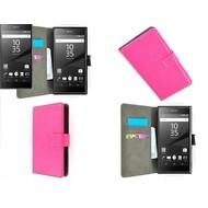 Sony Xperia Z5 - Wallet Bookstyle Case Lederlook Roze
