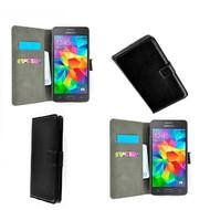 Samsung Galaxy Grand Prime - Wallet Bookstyle Case Lederlook Zwart