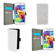 Samsung Galaxy Core Prime - Wallet Bookstyle Case Lederlook Wit