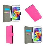 Samsung Galaxy Core Prime - Wallet Bookstyle Case Lederlook Roze