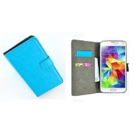 Samsung Galaxy Core Prime - Wallet Bookstyle Case Lederlook Turquoise