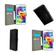 Samsung Galaxy Core Prime - Wallet Bookstyle Case Lederlook Zwart