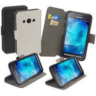 Samsung Galaxy Xcover 3 Hoesje Wallet Bookstyle Case Y Wit
