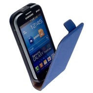 Samsung Galaxy Xcover 3 - Flip Case Cover Hoesje Y Leder Blauw