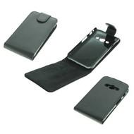 Samsung Galaxy Xcover 3 - Flip Case Cover Hoesje Lederlook Zwart