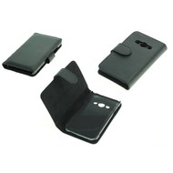 Samsung Galaxy Xcover 3 - Bookstyle Case Lederlook Zwart