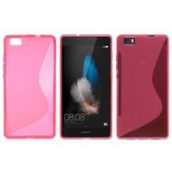 Huawei P8 Lite - Tpu Siliconen Case Hoesje S-Style Roze